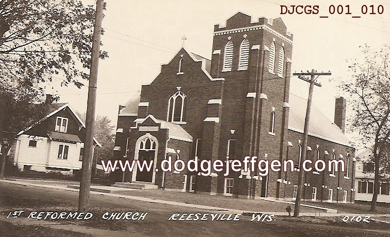 02 15 11 Reeseville Wi Dodge Cty First Reformed Church